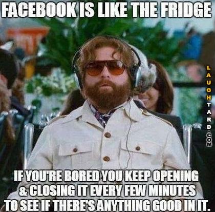 Facebook is like the fridge
