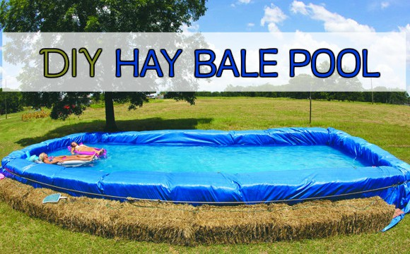 How To Make A Hay Bale Pool For Summer