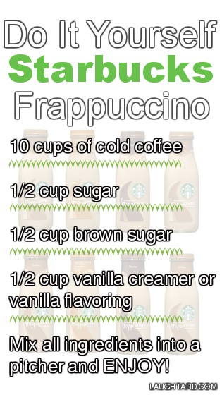 Do It Yourself Starbucks Frappuccino