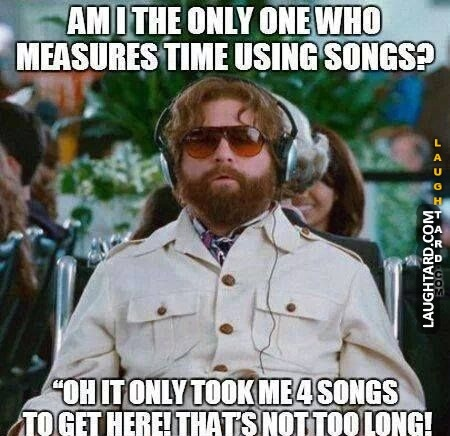 Who else measures time using songs?