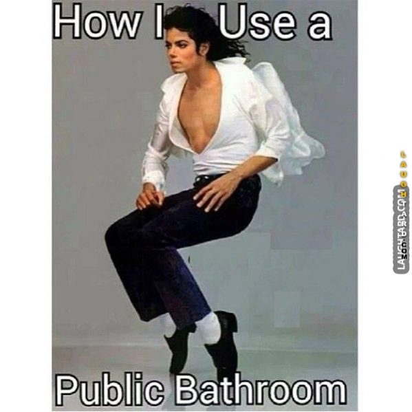 How I use the public toilet.
