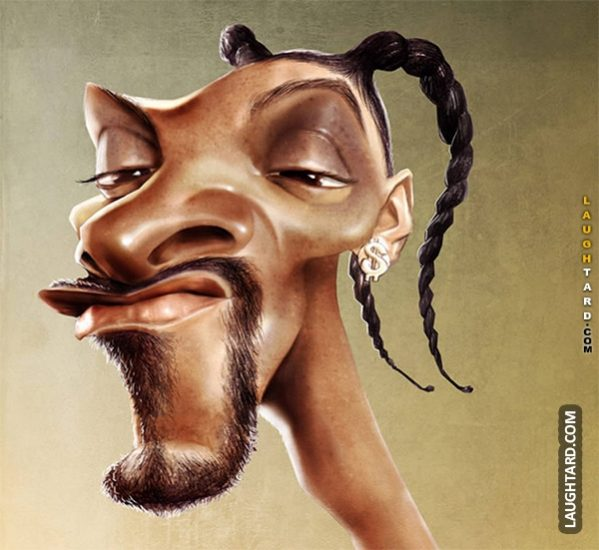 Snoop Dogg Giraffe Face.