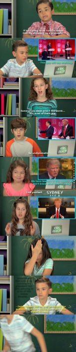 Kids opinion on Donald Trump