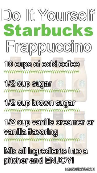 Do It Yourself Starbucks Frappuccino
