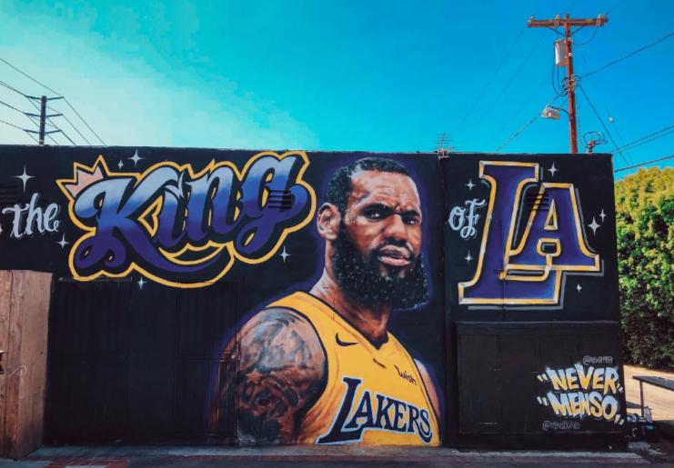 55b8c4185d9 LeBron James Murals In L.A. Get Vandalized - LAUGHTARD