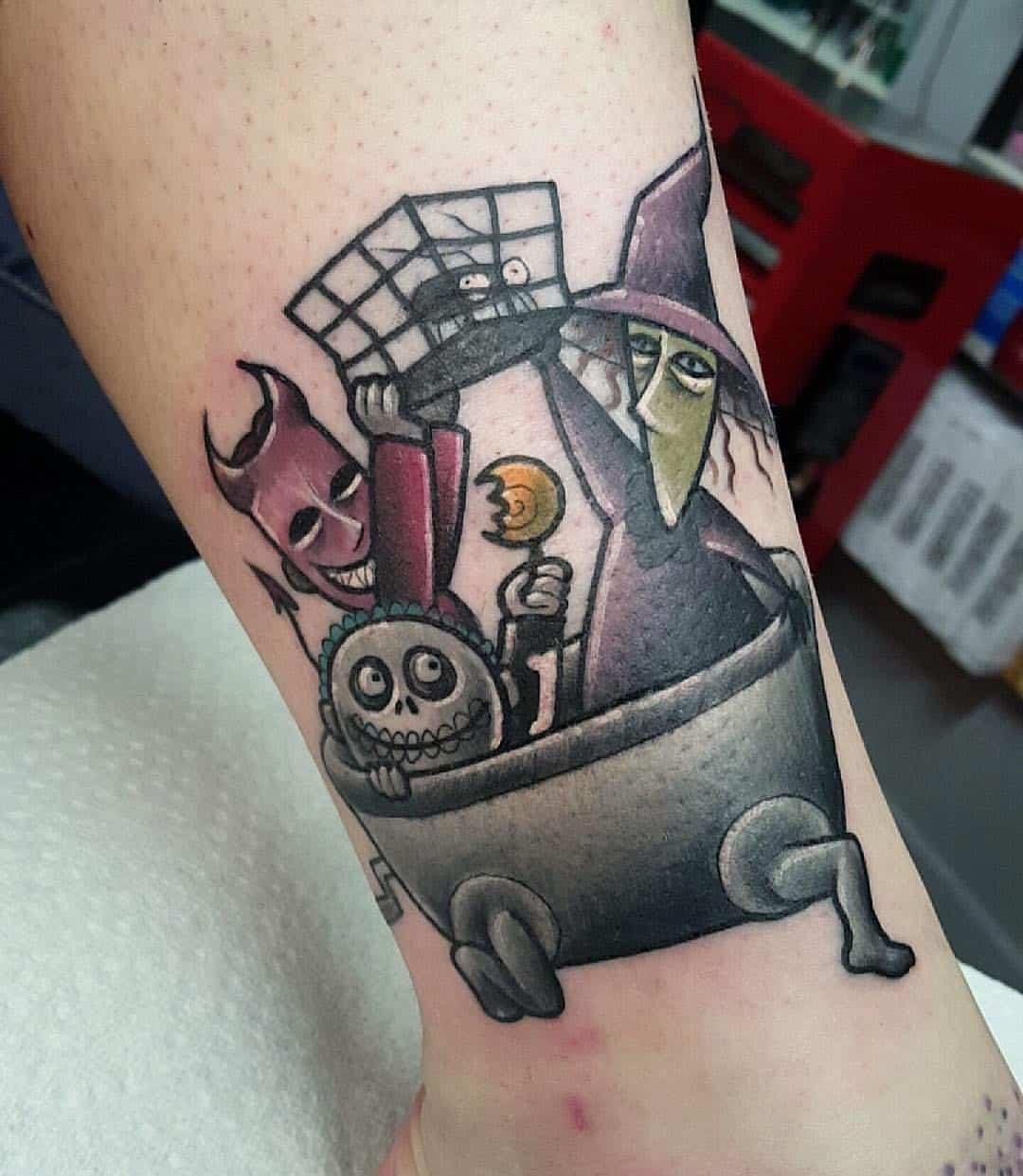 60 Cute & Creepy Halloween Tattoos