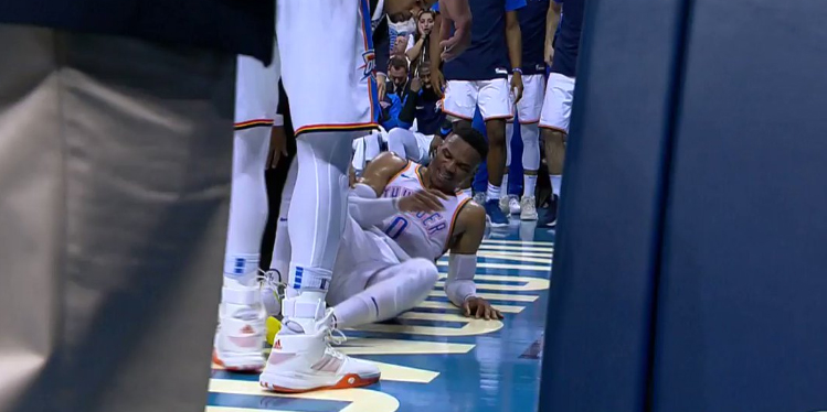 Russell Westbrook Leaves Game After Possible Injury