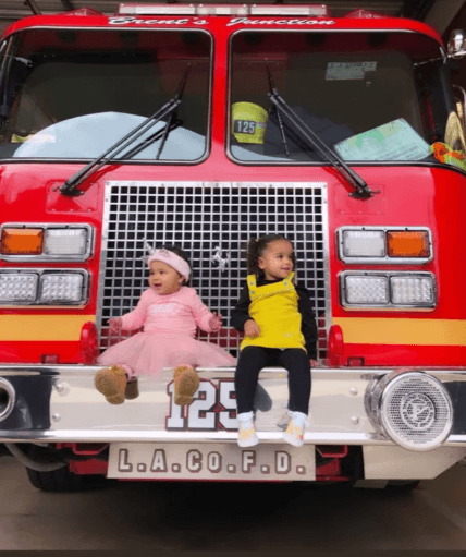 True Thompson And Dream Kardashian Visit Firefighters, And The Pictures Are Precious!