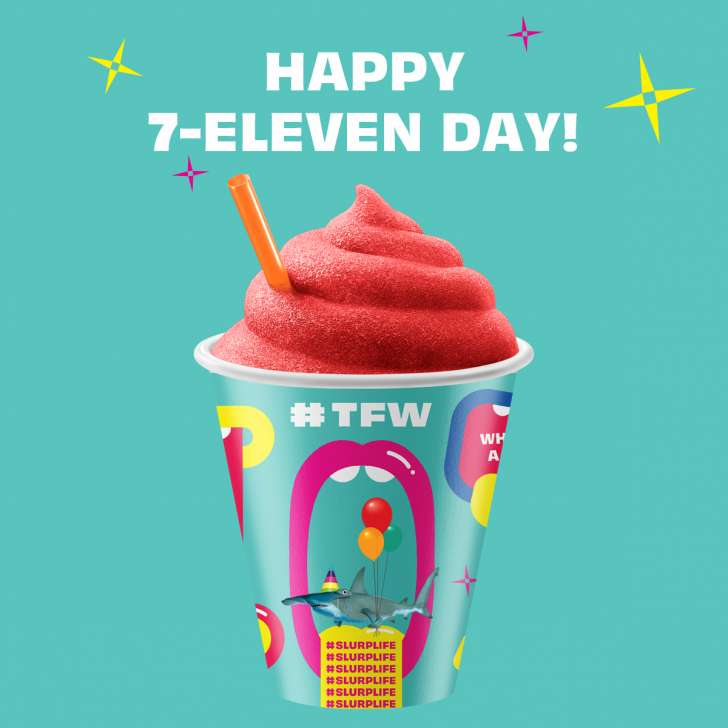 Free Slurpees Today For 7-Eleven Day!