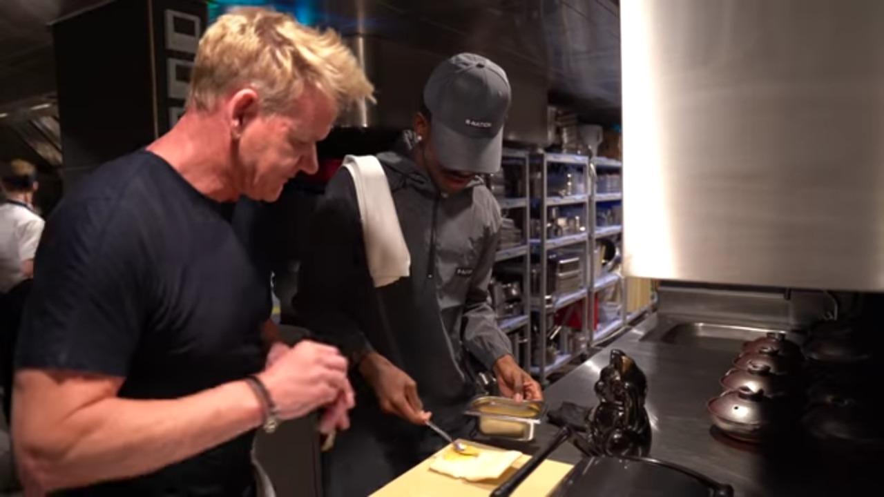 Gordon Ramsay Teaches Lil Nas X How To Make A Panini