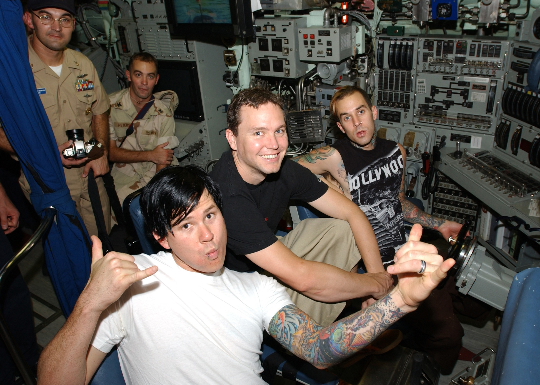 Blink-182 Forced To Stay In Hotel After Shooting