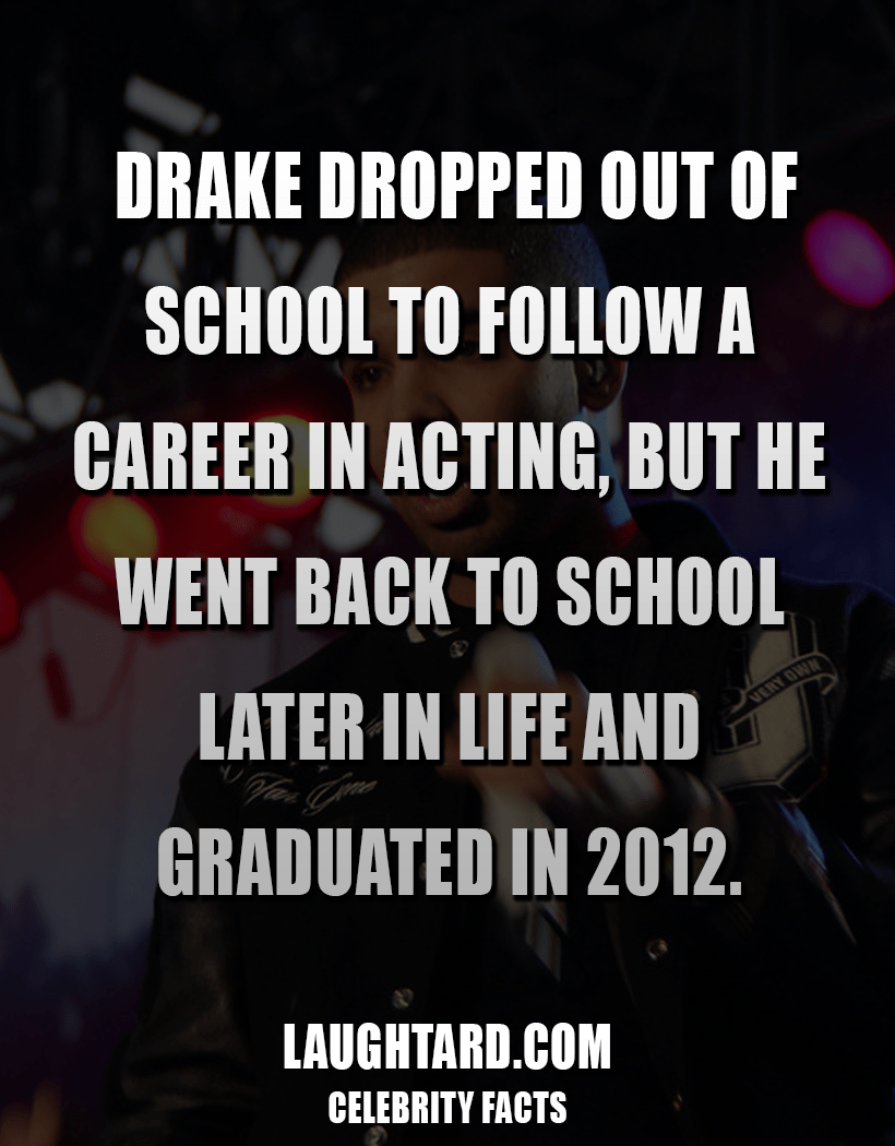 Fact About Rapper Drake #038; School 1460666400
