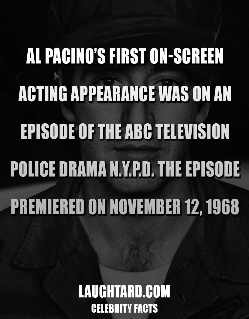 Fact About Al Pacino First Appearance On TV 2099318182