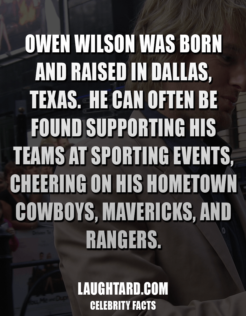 Fact About Owen Wilson 945216340