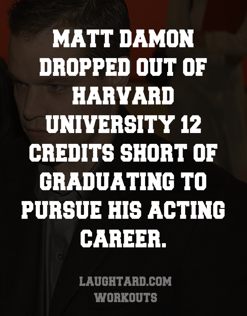 Fact About Matt Damon