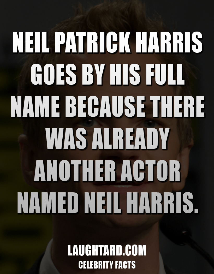 Fact About Neil Patrick Harris