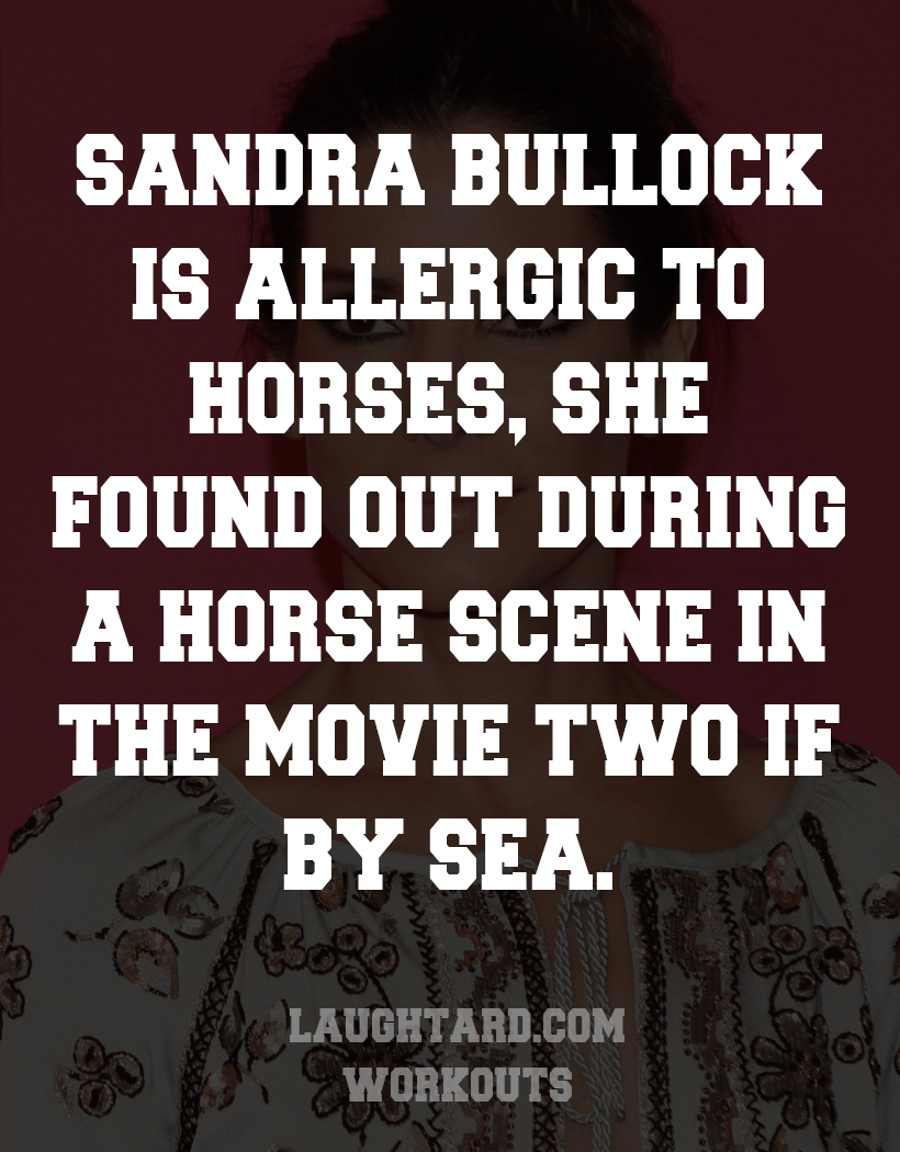 Fact About Sandra Bullock