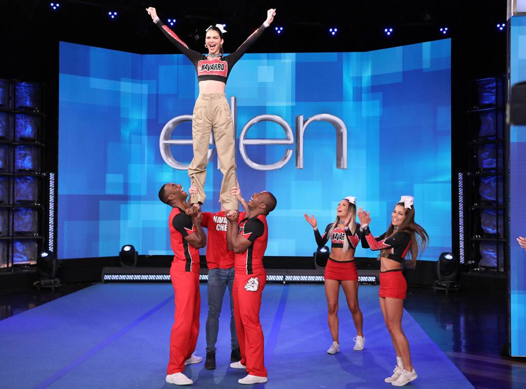 Kendall Jenner Learns A Stunt With The Cast Of Netflix's Cheer