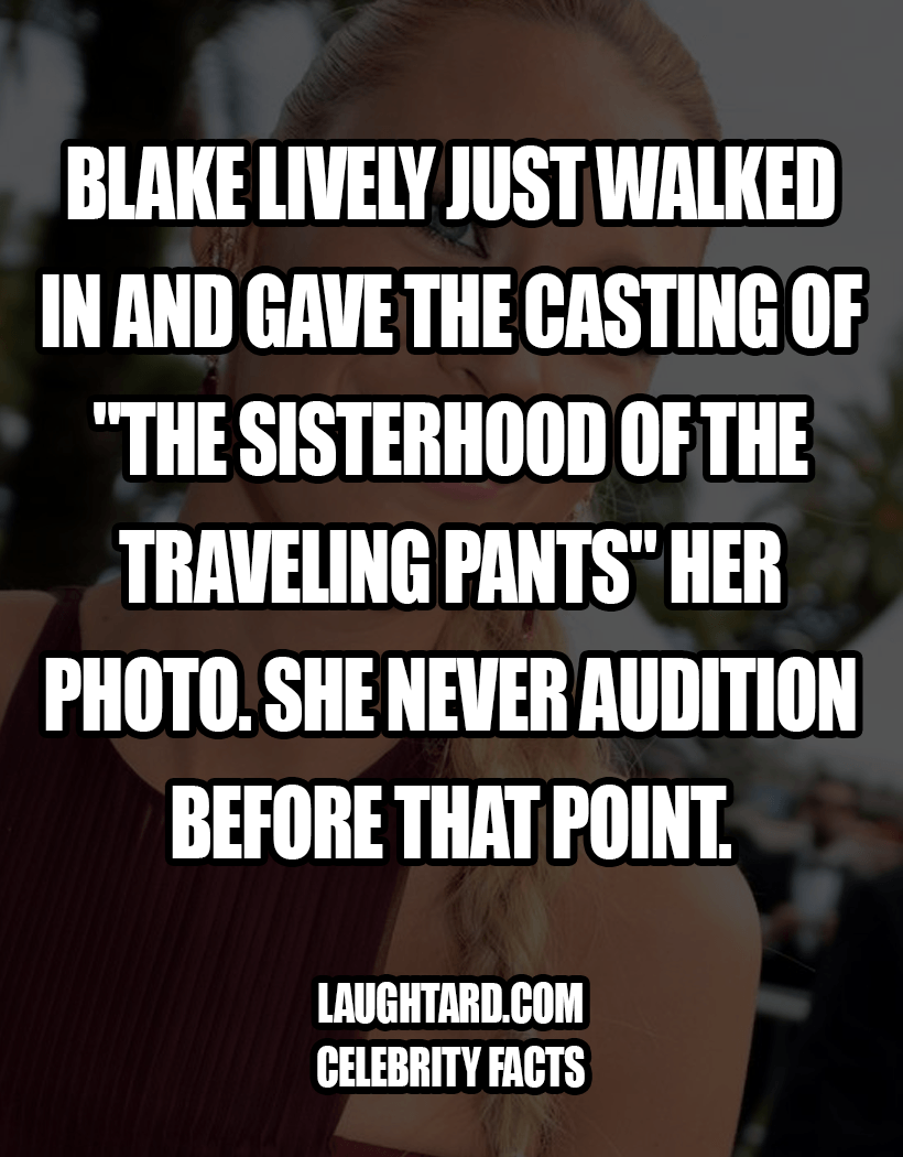 Fact About Blake Lively